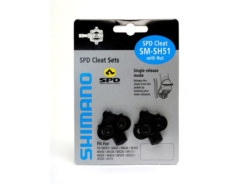 SHIMANO Spd Cleat (Sh51) Single Release click to zoom image