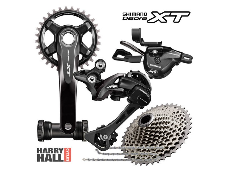 SHIMANO XT Drive train 1x11 click to zoom image