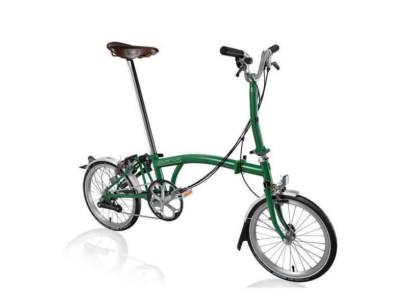 BROMPTON M6-L +Marathons and Brooks Saddle click to zoom image